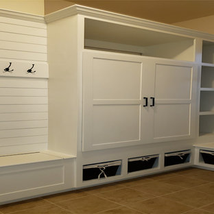 Mudroom Bult-in Closet, Storage Cubbies, Coat Hooks & Bench