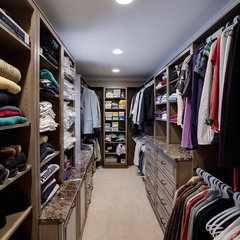 contemporary closet by Kitchens By Julie
