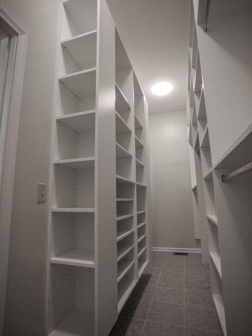 Narrow Walk In Closet | Houzz