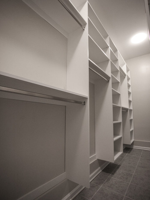 Narrow Walk In Closet Houzz