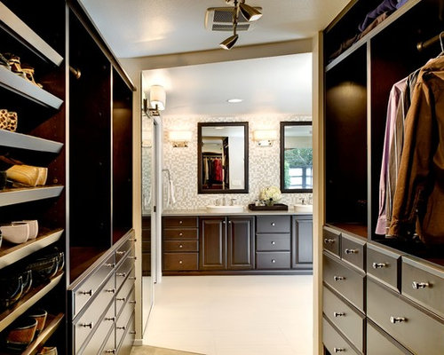 Inspiration For A Contemporary Walk In Closet Remodel In Portland