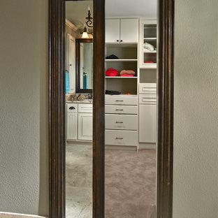 Old Shepard Framed Mirror Pocket Door