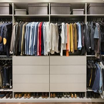 Open Wardrobe Closet Area