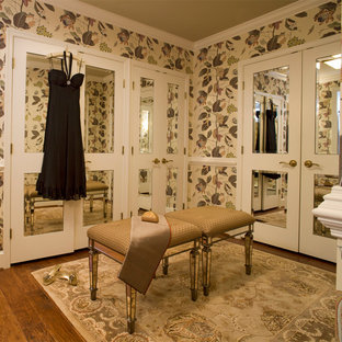 Dressing room - small traditional women's medium tone wood floor dressing room idea in Baltimore