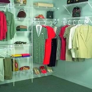 Diseño de armario vestidor unisex, bohemio, grande