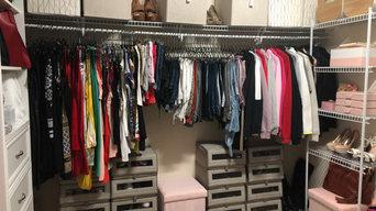 Organized Hers Master Closet