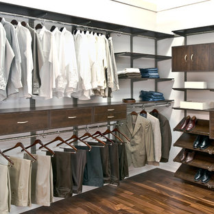 Inspiration for a contemporary closet remodel in Cincinnati