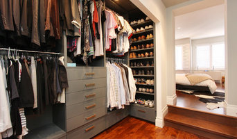 Kids Custom Closet With Antique Finish