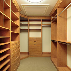 Contemporary Closet by Greenview Builders and Cabinetry Designers, Inc.
