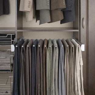Inspiration for a contemporary men's walk-in closet remodel in Orange County