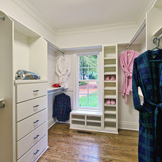 Traditional Closet by June DeLugas Interiors