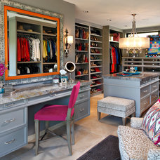 Contemporary Closet by Linda Seeger Interior Design