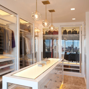 Inspiration for a contemporary dressing room remodel in New York