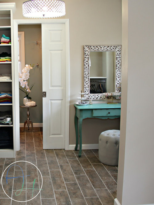 Shabby-Chic Style Closet Design Ideas, Remodels & Photos with Ceramic ...