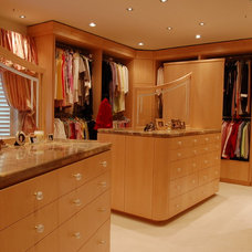 contemporary closet by B. W. Interiors Chicago