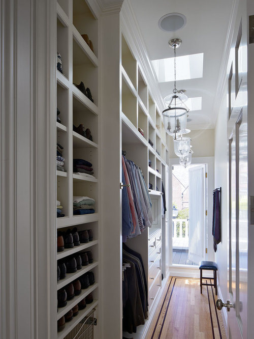 Narrow Walk In Closet | Houzz
