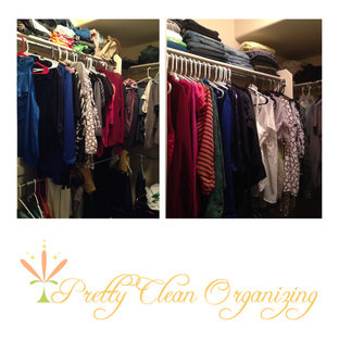 Pretty, Clean, and Organized Woman's Closet