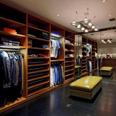 Contemporary Closet by Cabin John Builders