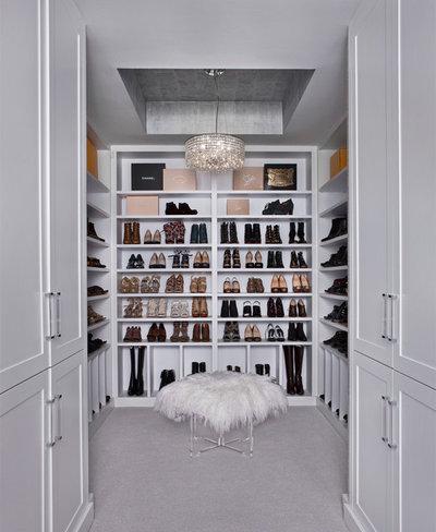 Transitional Closet by AMW Design Studio