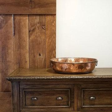 Rabbit Ridge Farm - Log Cabin Master Bath, Dressing Room & Laundry Room