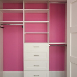 Transitional storage and wardrobe in Toronto.