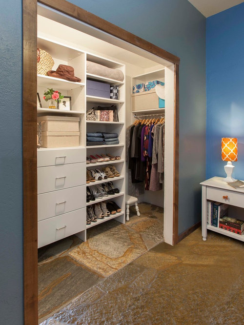 ankleidezimmer mit schieferboden ideen design bilder houzz. Black Bedroom Furniture Sets. Home Design Ideas