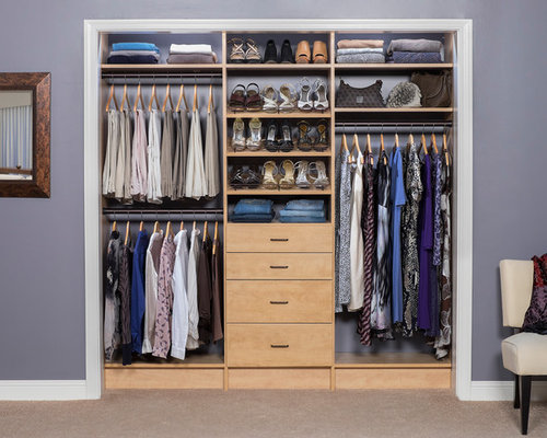 best small closet design ideas remodel pictures houzz - Small Closet Design Ideas