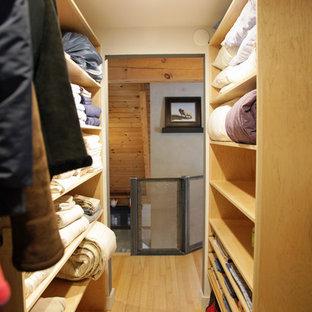 Reclaimed barn door for closet