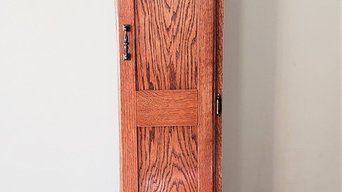 Red Oak Tower Cabinet