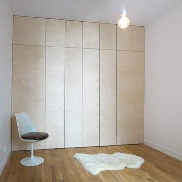 Rénovation d'un appartement parisien, chambre