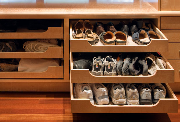 Contemporary Closet by Robert J Erdmann Design, LLC