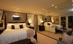 Robeson Design Master Bedroom with Mirrored Closet Storage Ideas