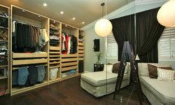 Robeson Design Teen Girls Cream Closet with IKEA Storage Solutions