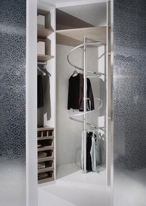 Spiral Clothes Rack For Closet   Closet Ideas