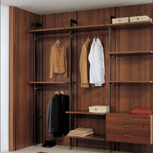 Inspiration for a modern closet remodel in New York
