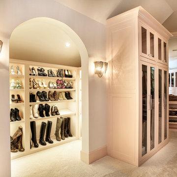 Shoe display in Her Closet