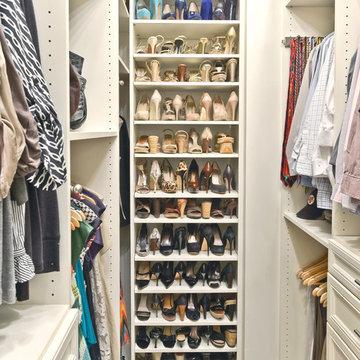 Shoe Organization in a Closet | Organized Living Classica in Bisque