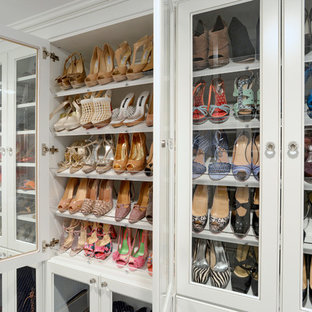 Inspiration For A Timeless Closet Remodel In New York With White Cabinets