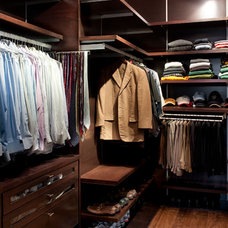 Contemporary Closet by RiverCity Cabinets
