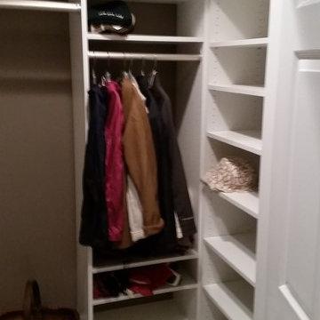 Small White Coat Closet in Naperville, IL
