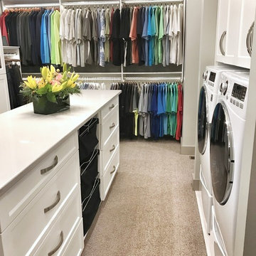 So Fresh and So Clean , Master Closet with Island and Laundry