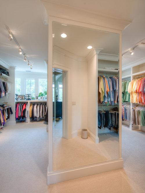 Closet mirror houzz for Elegant walk in closet