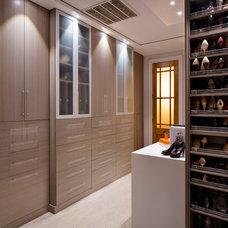 Contemporary Closet by Karen Giffel Interior Design, LLC