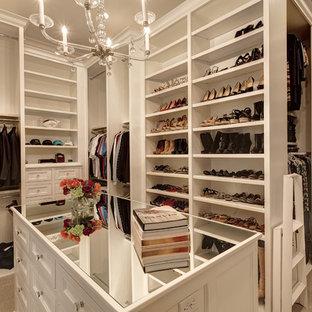Example of a tuscan closet design in Dallas