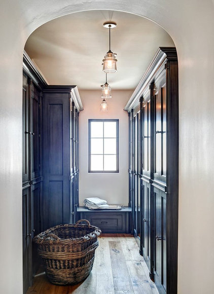 Mediterranean Laundry Room by Palm Design Group