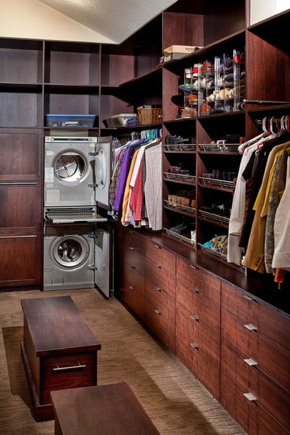 Contemporary Closet by Wende Woodworking LLC