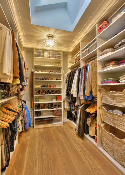 Transitional Closet by Plan A Design Group