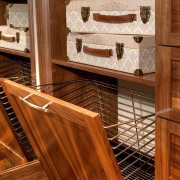 Stained Walnut Master Closet