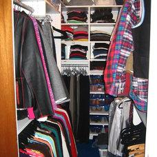 Contemporary Closet by Stephanie Bonini