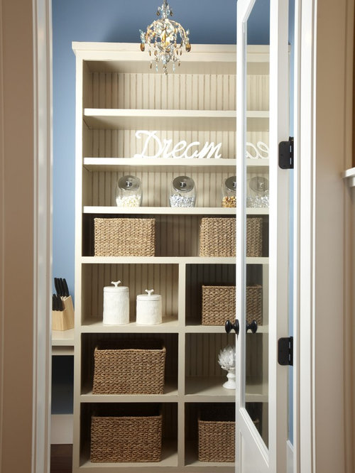 Awesome Beadboard Shelves Part - 4: Inspiration For A Timeless Closet Remodel In Tampa With Open Cabinets And  Beige Cabinets